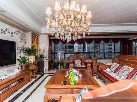活力岛板块 4房2厅3卫 400万 大平层+豪装紫檀木+急售