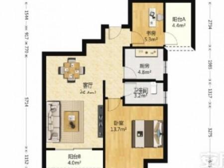 首开常青藤 毛坯2房 刚需福利 低于市场价10万 随时看房