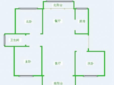 尚景花苑 毛坯三房 活力岛四号站 繁华商圈 景观楼层 带车位